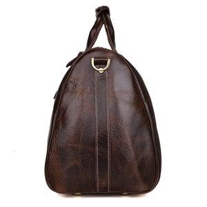 Image of Handmade Vintage Leather Duffle Bag / Travel Bag / Luggage / Sport Bag Gym Bag / Weekend Bag (N66-4)