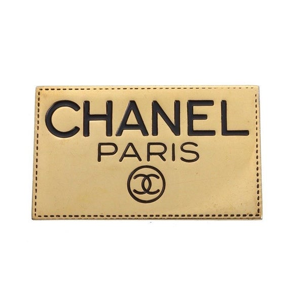 Image of Chanel Vintage Authentic Signed Name Tag Pin Brooch