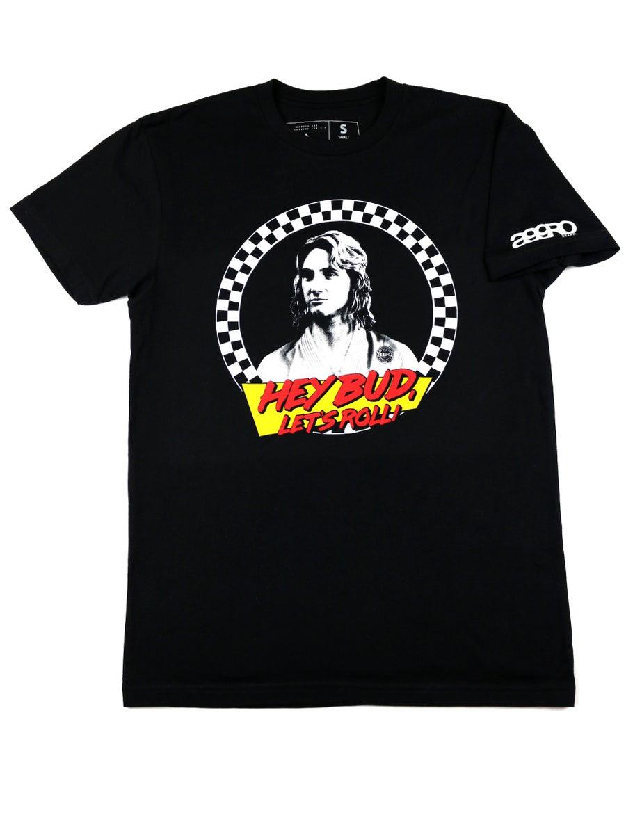 """Image of AGGRO Brand """"Hey Bud"""" T-Shirt"""