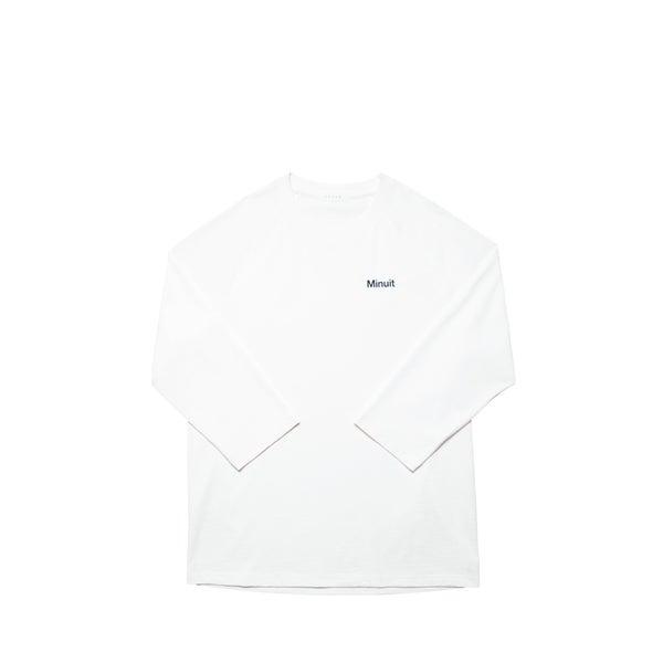 Image of FUTUR x MINUIT - 5/6 Raglan (white)