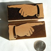 Image of A pair of 8 line Tubbs Solid Manicules