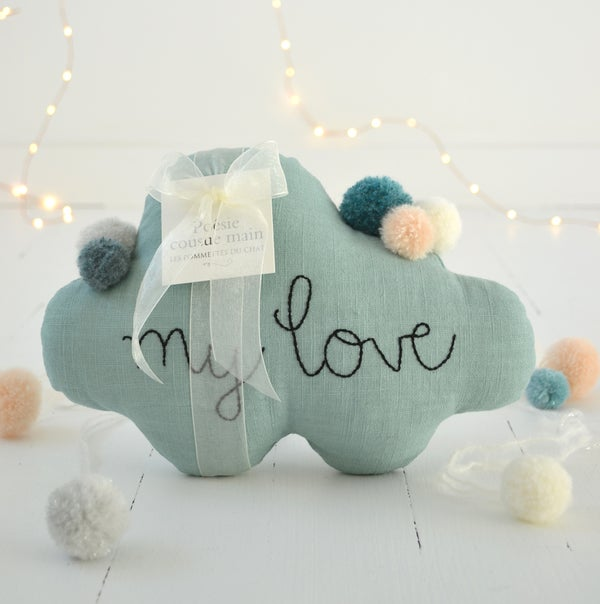 "Image of Nuage ""my love"" bleu céladon"