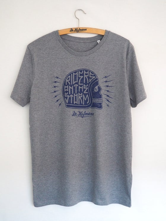 "Image of ""HELMET TEE"" - Organic cotton - mid heather grey"