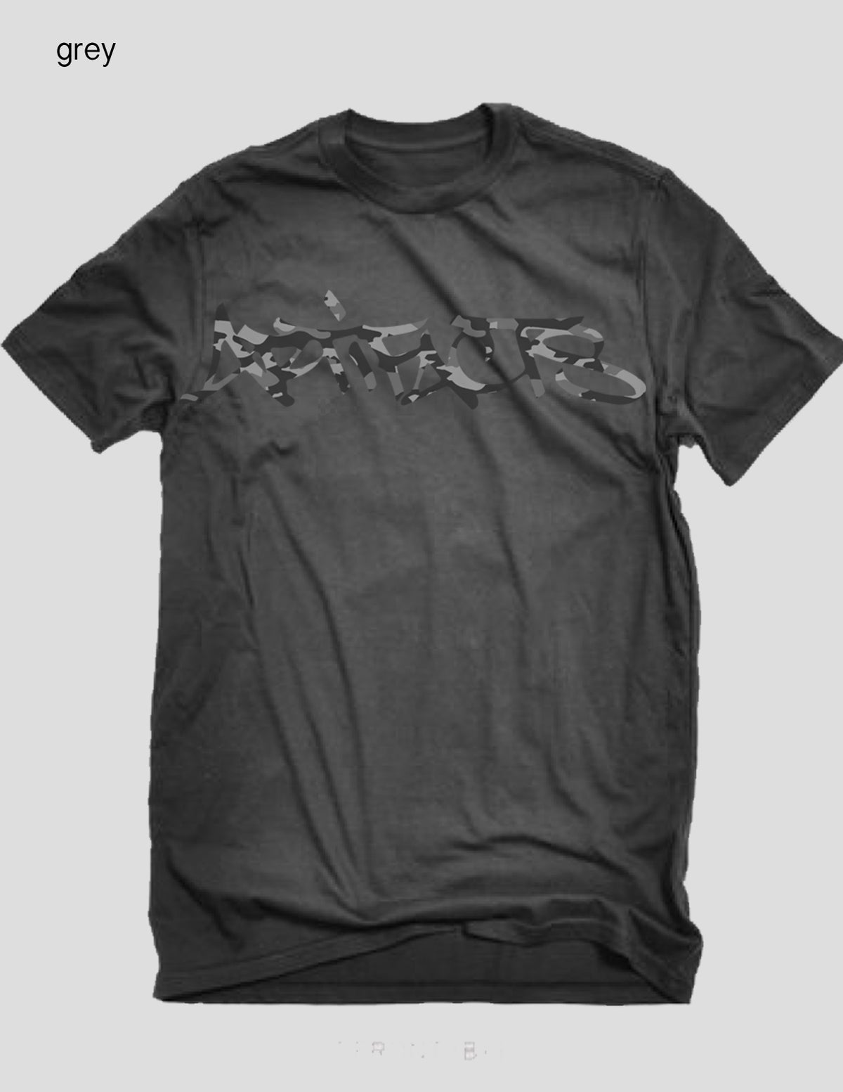 Image of ARTIFACTS CAMO Signature tag logo tee (grey)