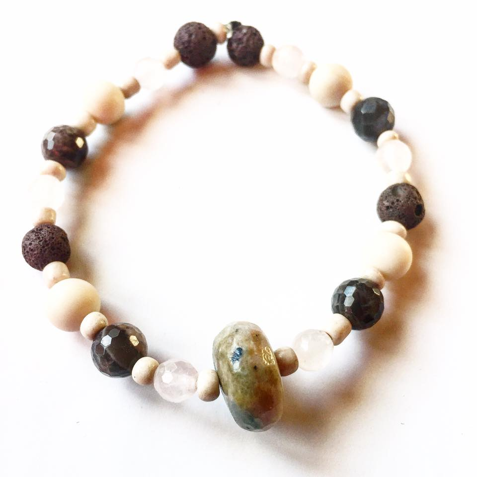 Image of Speak your truth in love and in your personal power/Essential Oil of Palo Santo Atomizer Bracelet