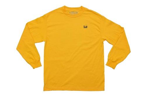 Image of Logo Long Sleeve Tee (Gold)