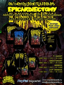 Image of EPICARDIECTOMY	Abhorrent Stench  T-shirt/Sweatshirt/Hoodie/Zip-Hoodie