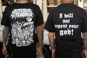 "Image of GROTESQUE CEREMONIUM ""Demonic Inquisition"" Shirt"
