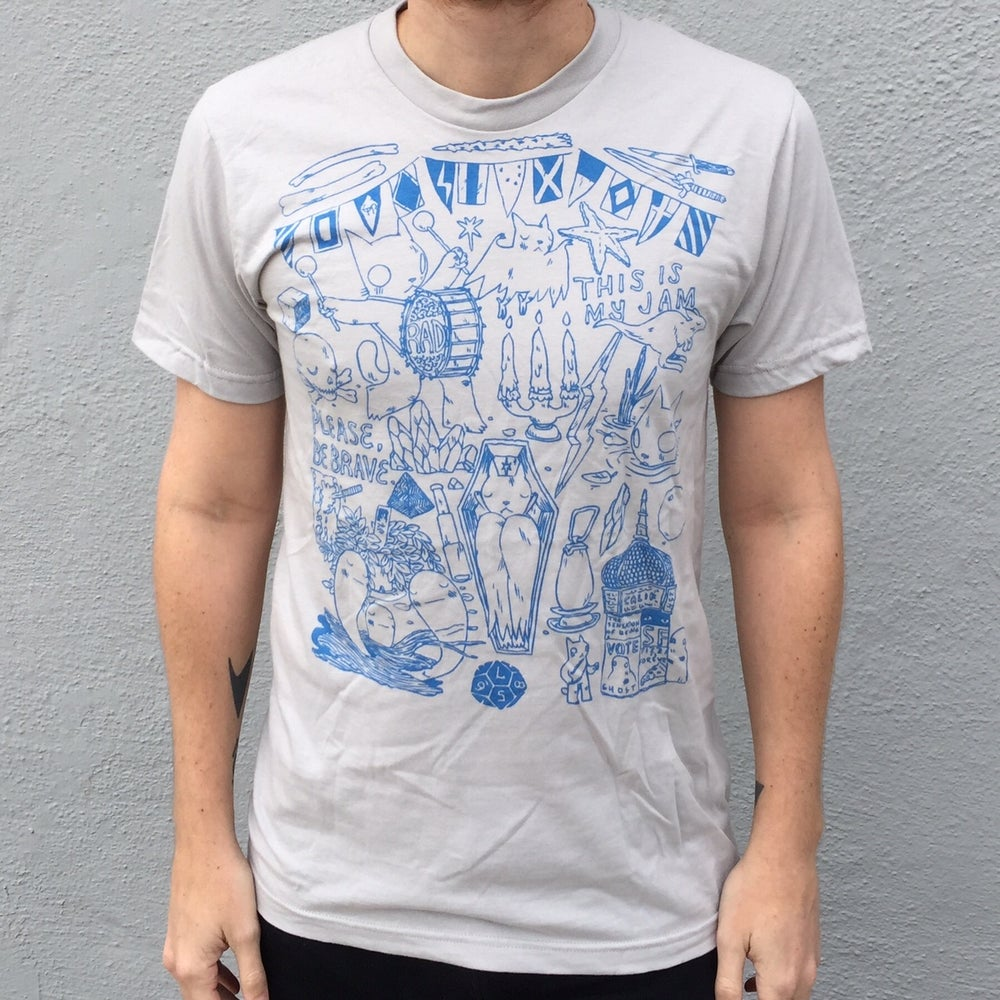 Image of Flags/Please Be Brave Shirt Silver