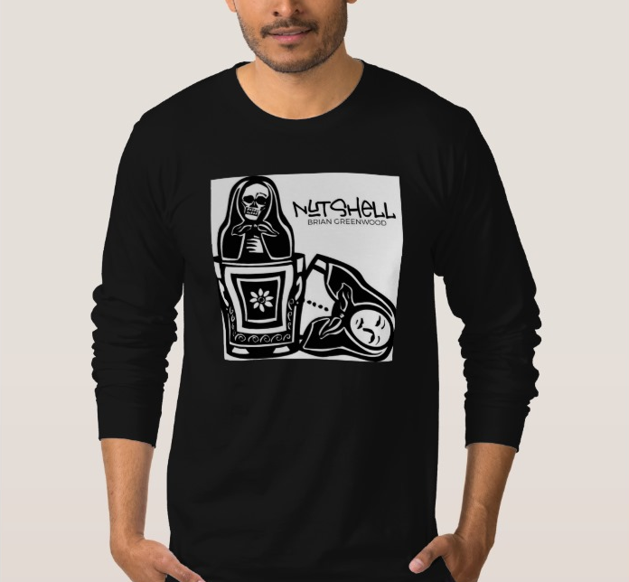 Image of 'Nutshell' Mens Black Long Sleeve T-Shirt