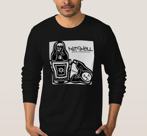 Image of 'Nutshell' Mens Black Long Sleeve T-Shirt