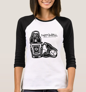Image of 'Nutshell' Women's Raglan Baseball T Shirt Long Sleeve