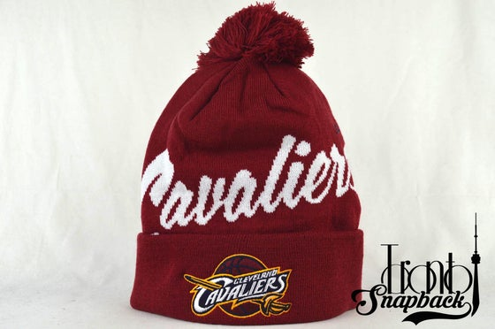 Image of CLEVELAND CAVALIERS SCRIPT MITCHELL & NESS WINTER BEANIE