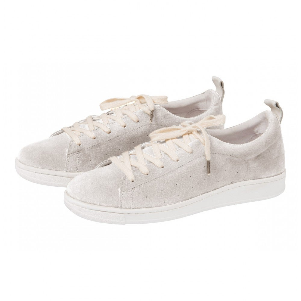 Image of Pale grey leather sneakers