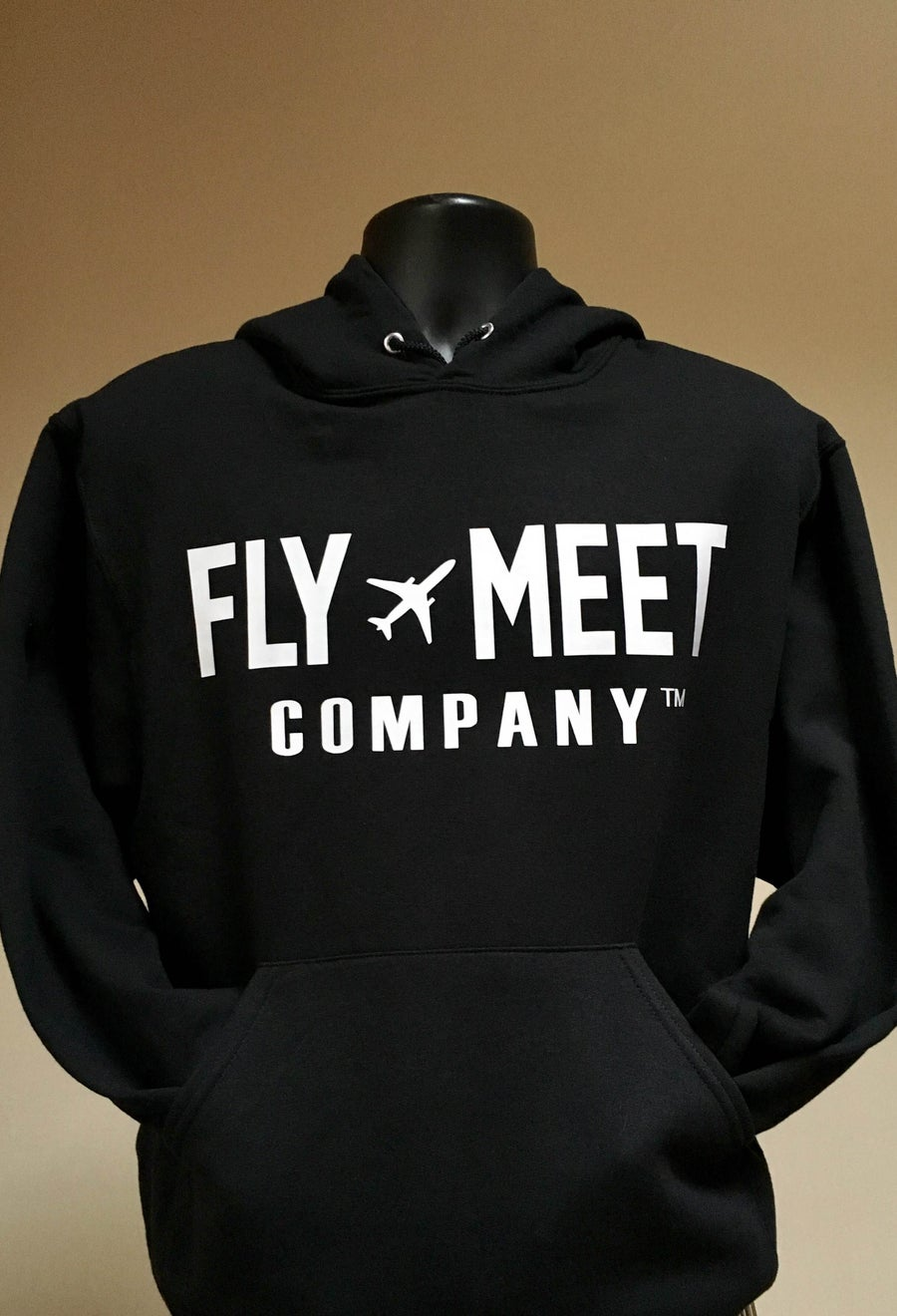 Image of Fly Meet Company - Hooded Sweatshirt (Black)
