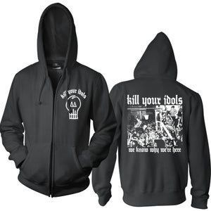 "Image of KILL YOUR IDOLS ""We Know Why We're Here"" Hooded Zipper Sweatjacket"