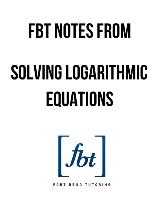 Image of Logarithmic Equations YouTube Notes