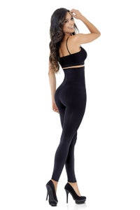 Image of High waist control leggings with biocrystals