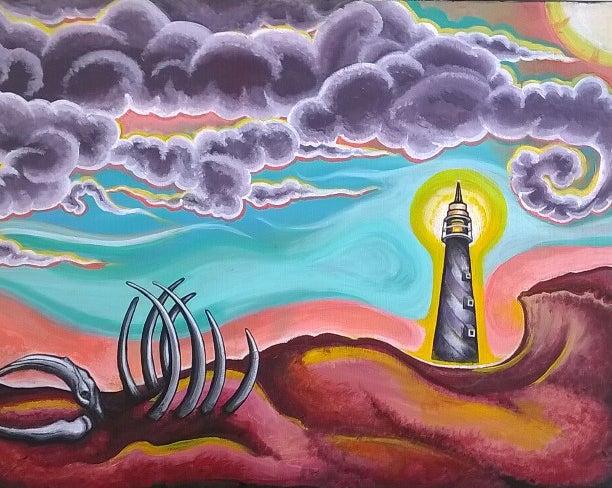 Image of Redistribution of Life (Original Acrylic Painting on Canvas)