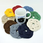Image of Nautical Sailor Knot Coasters set of 4