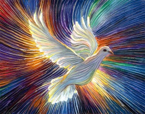 Image of The Dove Of Hope Energy Painting - Giclee Print