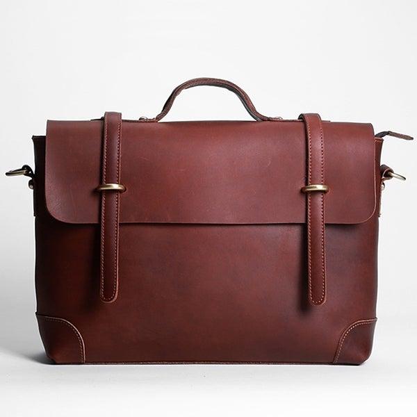 """Image of Handmade Vintage Leather Messenger Bag / Briefcase / 13"""" 15"""" MacBook 13"""" 14"""" Laptop Bag (n36)"""