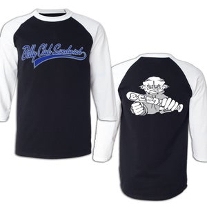 "Image of BILLY CLUB SANDWICH ""Logo Demo"" 3/4 Sleeve Jersey"