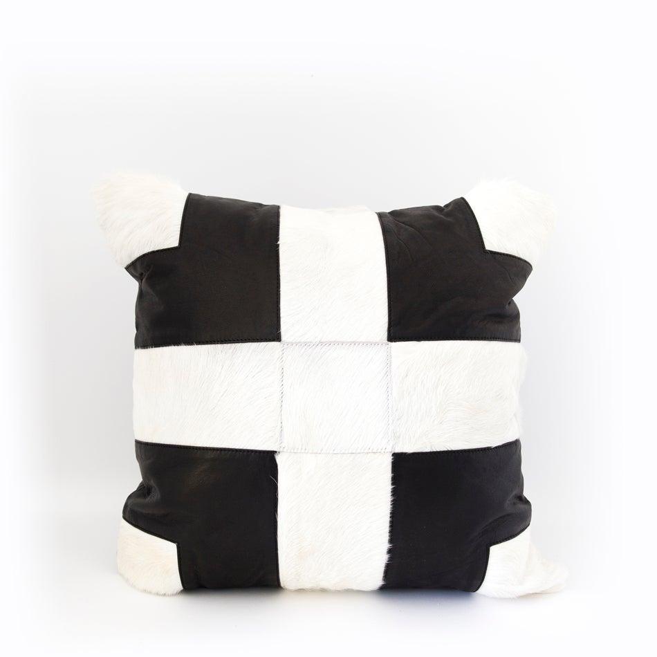 Image of Cross Roads Black & White Cushion