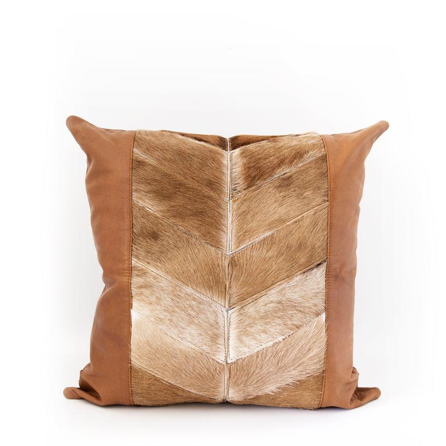 Image of Wandering Arrows Tan Cushion