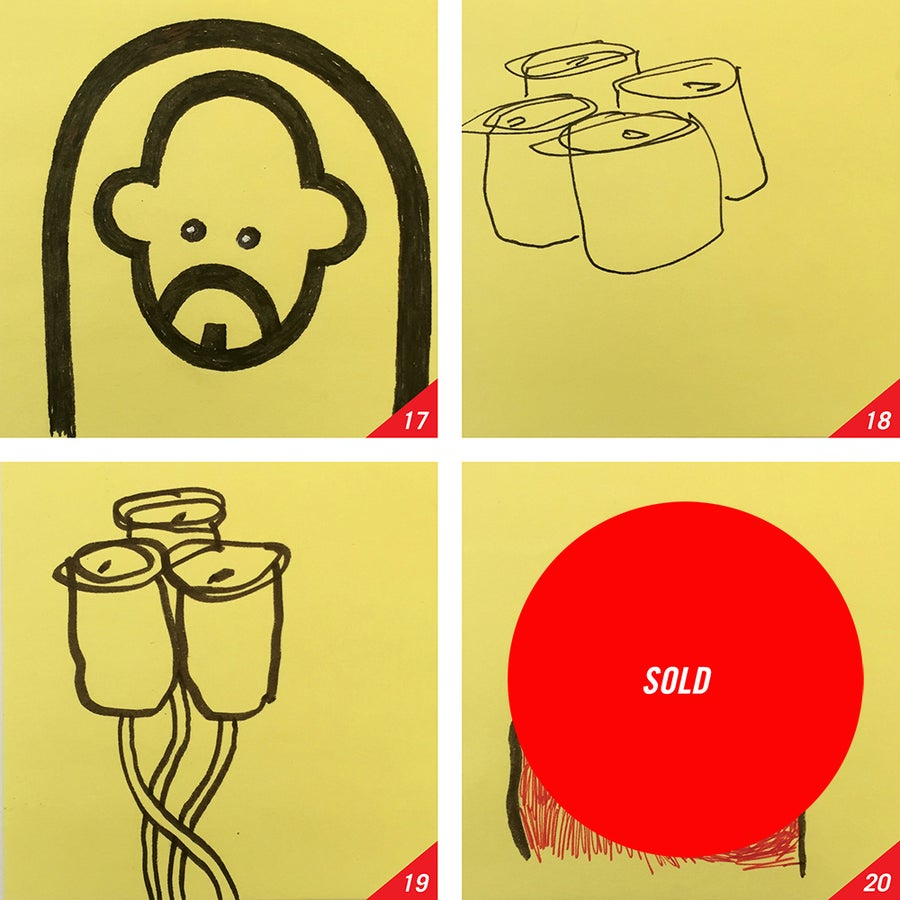 Image of POST-IT SCRIBBLES: 17-20