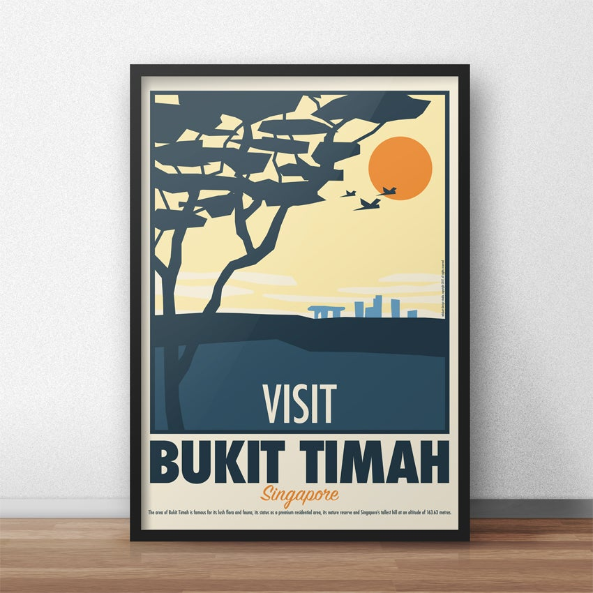 Image of Bukit Timah Vintage Travel Poster