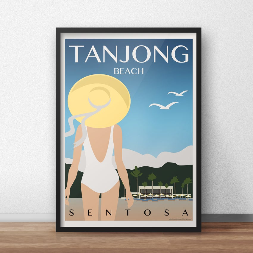Image of Tanjong Beach Vintage Travel Poster