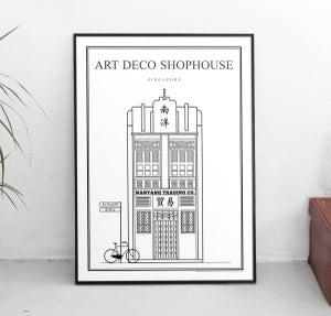 Image of Art Deco Shophouse (Architectural Icon Series) (Fine Art Print)