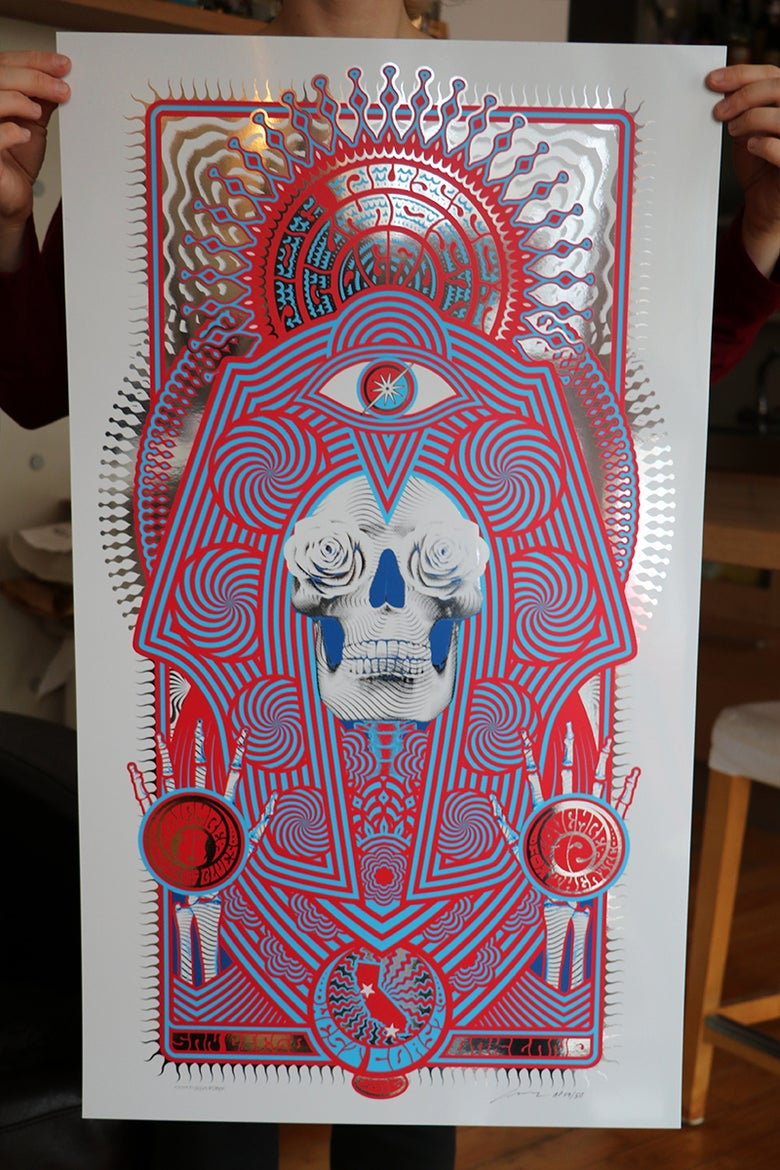 Image of Joe Russo's Almost Dead - SIlkscreen Poster - West Coast 2016 - Oakland & San Diego