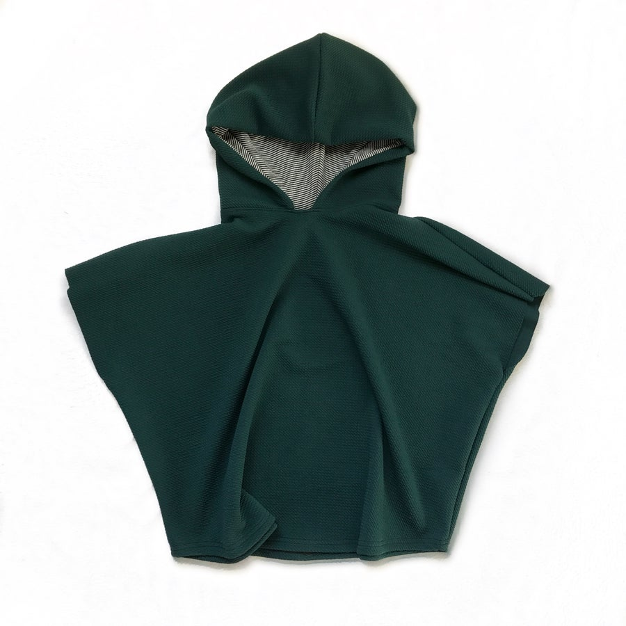 """Image of """"Hood Vibrations"""" Hooded poncho in SPRUCE"""