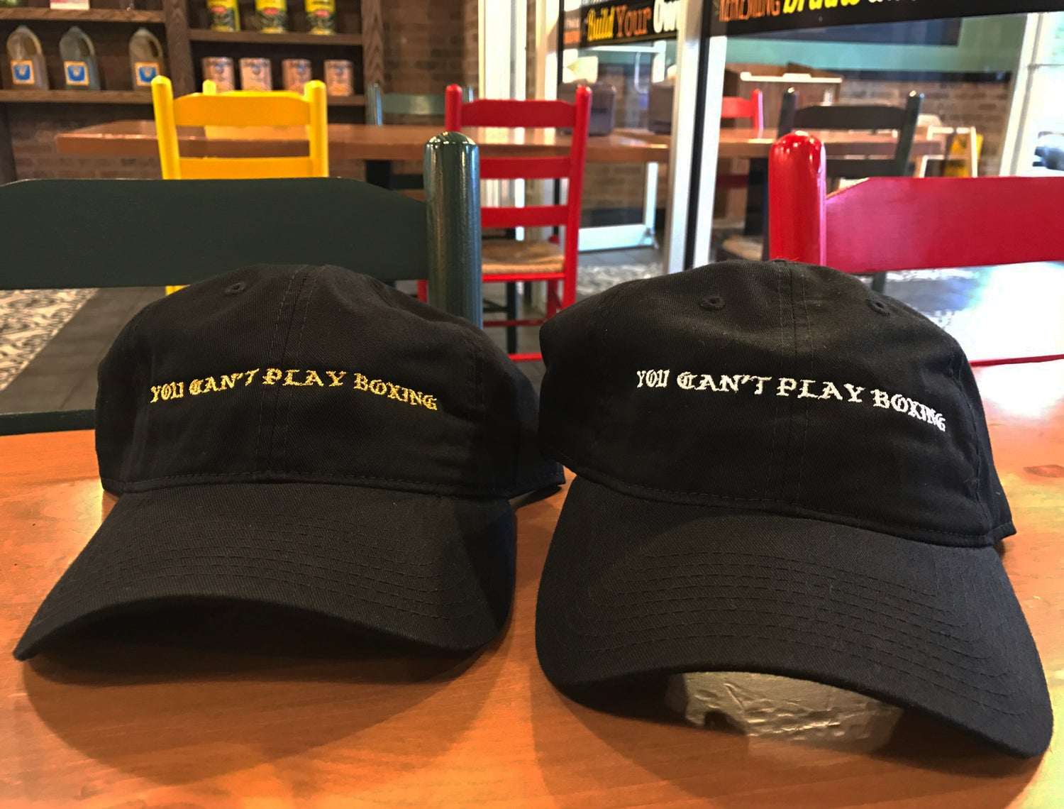 Image of You Can't Play Boxing Strapbacks (2 colors)