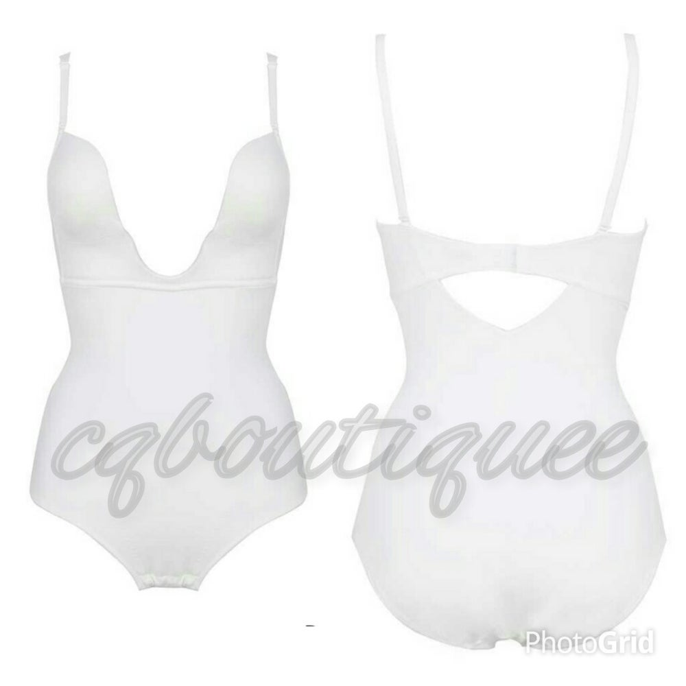 Image of Cq deep cut firm undergarment( white)