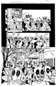 "Image of ORIGINAL ART--DEADPOOL in Gwenpool Holiday Special: Merry Mix Up ""Deadpooloween"" Page 04"