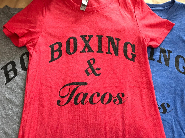 Image of Women's boxing & tacos crewneck tees (3 colors)