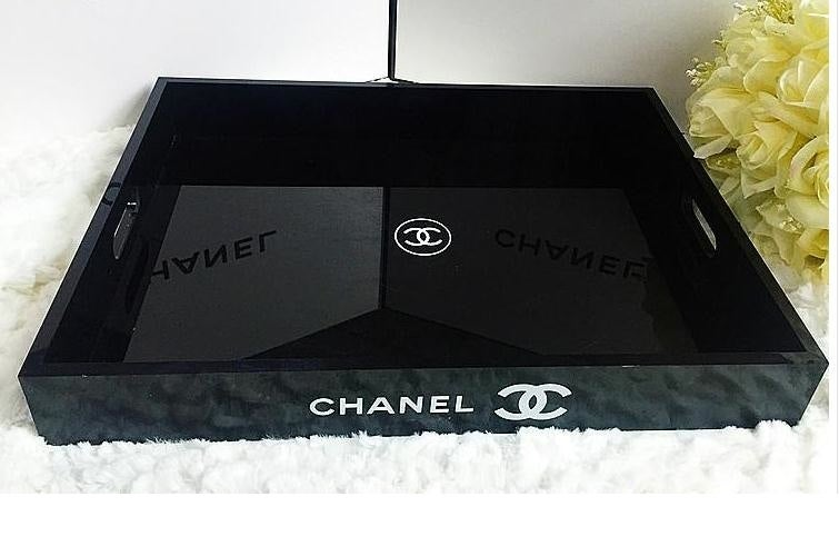 Image of Chanel VIP Gift X Large Make Up Cosmetic Jewellery Perfume Tray -New In Box
