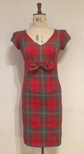 Image of Little bow tartan dress