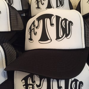 Image of FUCK THE WORLD trucker hat