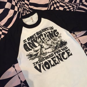 Image of VIOLENCE 3/4 sleeve mens raglan
