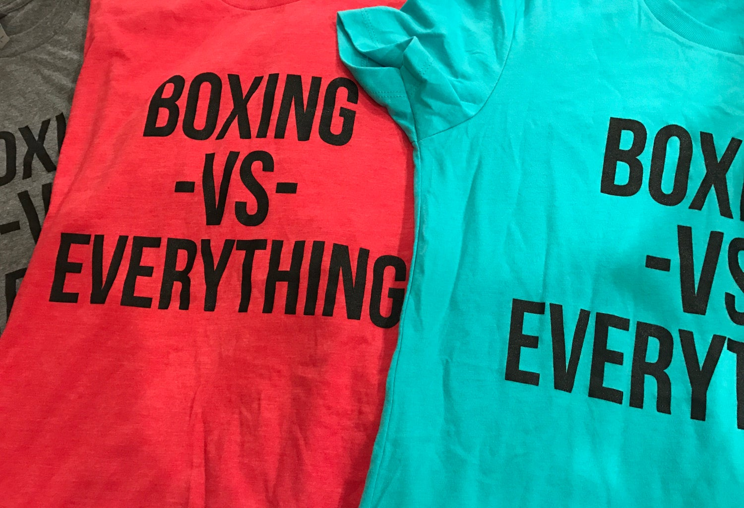 Image of Womens Boxing vs Everything Shirts (3 colors)