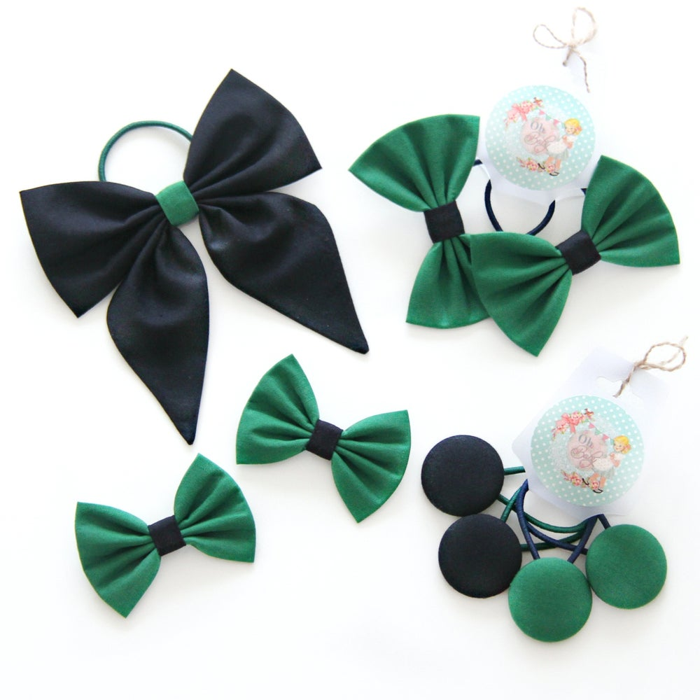 Image of Back to School READY MADE Set ~ Navy Blue & Green