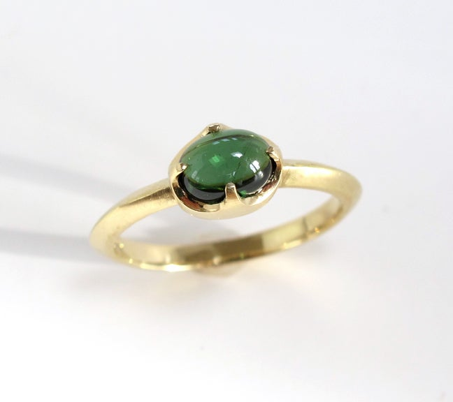 Image of Tourmaline Single Claw Ring 18k