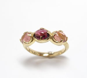 Image of Tourmaline Triple Claw Setting Ring 18k