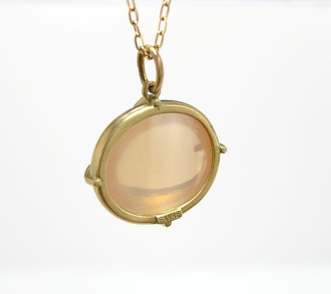Image of Peach Moonstone  Pendant 18ky