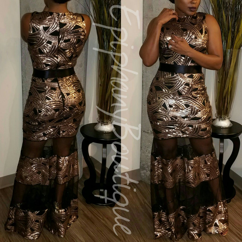 Image of The Bronze Cre' Gown