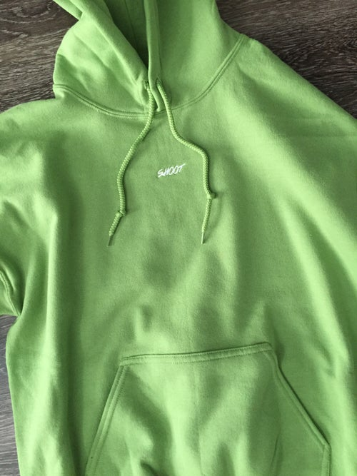 Image of SHOOT hoodie glow in the dark logo LIMITED RELEASE